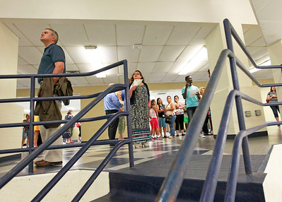 Candace H. Johnson A group of people look around the new Commons area as they go on a tour after the ribbon cutting ceremony at Round Lake High School.