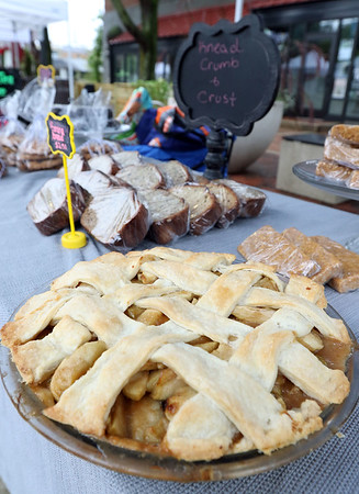 An apple pie at Knead Crumb and Crust during the Batavia Farmers' Market on August 27.