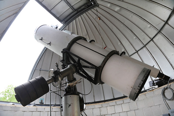 Telescopes are aimed toards the skies when the shutter was opened at the Waubonsee Community College Observatory on the Sugar Grove Campus. The college recently refurbished the Sugar Grove Observatory this fall. A solar eclipse will be visible Aug. 21.