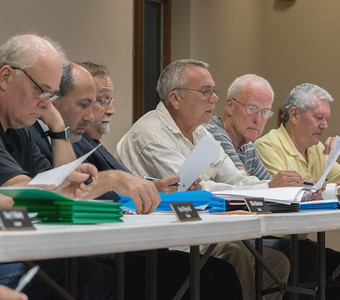 The McHenry Township board discusses matters Thursday, August 10, 2017 at the McHenry Township Hall in McHenry. Ken Koontz- For Shaw Media