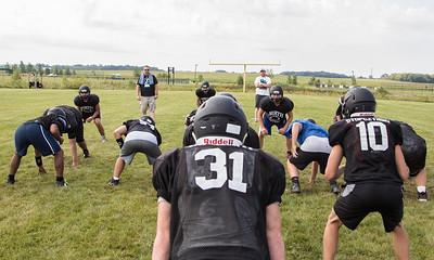 The Woodstock North High School football team during practice Thursday, August 10, 2017 in Woodstock.  Ken Koontz – For Shaw Media