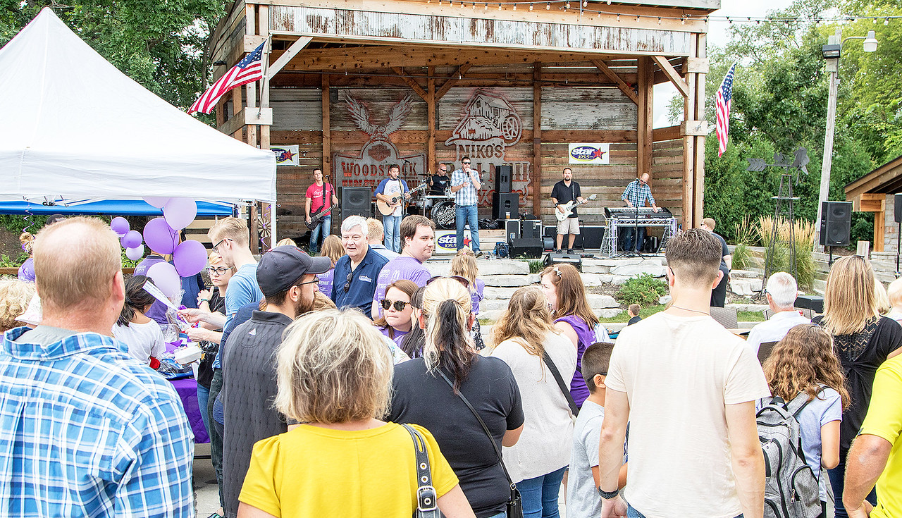 A good sized crowd turned up to support the Turning Point fundraiser Saturday, August 12, 2017 at Niko's Red Mill in Woodstock. Turning Point is a domestic violence agency with a mission to confront violence against women and children in McHenry County, Illinois. KKoontz- For Shaw Media