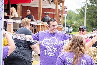 Raffle tickets were being sold by the arm's length Saturday, August 12, 2017 during the Turning Point fundraiser at Niko's Red Mill in Woodstock. Turning Point is a domestic violence agency with a mission to confront violence against women and children in McHenry County, Illinois. KKoontz- For Shaw Media
