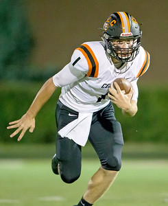 Ken Koontz - for Shaw Media Crystal Lake Central's Jacob Staples took the first play from scrimmage for an 80-yard touchdown run in the 37-21 win over Grant in a non-conference game Friday, Aug. 25, 2017.