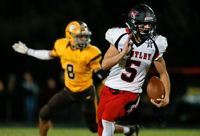 Eric Mooney (5) from Huntley runs a kick off back for a touchdown during the fourth quarter of their game against Jacobs at Jacobs High School on Friday, August 25, 2017 in Algonquin, Illinois. The Red Raiders defeated the Golden Eagles 30-27. John Konstantaras photo for the Shaw Media