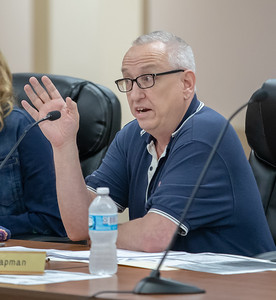 Algonquin Township Trustee Dave Chapman discusses billing issues during the Algonquin Township board meeting Wednesday, August 8, 2018 in Crystal Lake. KKoontz – For Shaw Media