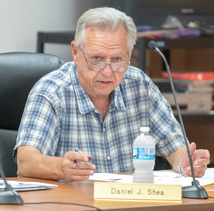 Algonquin Township Trustee Dan Shea discusses issues during the Algonquin Township board meeting Wednesday, August 8, 2018 in Crystal Lake. KKoontz – For Shaw Media