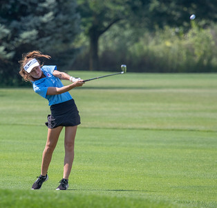 Lauren McNulty from Marion Central High School finishes in fifth place with an 82 at the Marian Central Girls Golf Invitational Thursday, August 9, 2018 held at the Boone Creek Golf Club in Bull Valley. KKoontz – For Shaw Media