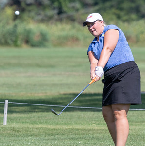 Kat Bevill from Marion Central High School finishes in fourth place with an 80 at the Marian Central Girls Golf Invitational Thursday, August 9, 2018 held at the Boone Creek Golf Club in Bull Valley. KKoontz – For Shaw Media