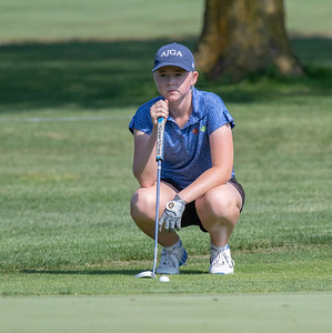 Molly Lyne from Marion Central High School finishes in second place with a 75 at the Marian Central Girls Golf Invitational Thursday, August 9, 2018 held at the Boone Creek Golf Club in Bull Valley. KKoontz – For Shaw Media