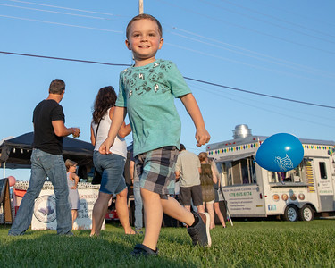 3- year old Caden Dwyer from Johnsburg enjoyed all of the festivities at the Blues, Brews, and BBQ Friday, August 17, 2018 at Peterson Park in McHenry. KKoontz – For Shaw Media