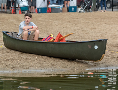 Luke Adkins (13yrs) from Woodstock awaits the start of his first fishing tournament Saturday, August 18, 2018 at the second annual Conner Kincaid Memorial Fishing Tournament held at Indian Trail Beach in Lake in the Hills. KKoontz – For Shaw Media