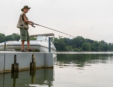 Jacob Gurbisz (13yrs) from Woodstock fishes Saturday, August 18, 2018 at the second annual Conner Kincaid Memorial Fishing Tournament held at Indian Trail Beach in Lake in the Hills. KKoontz – For Shaw Media