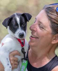 Sebastian, a 3 month old terrier mix had a great time with Helping Paws handler Teri Johnson at the 4th annual Bark-a-Paw-Looza in the Woodstock Square, Sunday, August 19, 2018.  This Woodstock annual fundraiser helps to support local families in need with caring for their furry family members.  KKoontz – For Shaw Media