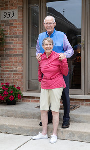 Bob & Rosemarie Blazier on the front porch of their Crystal Lake home Friday, August 24, 2018. The couple have touched the lives of thousands of McHenry County residents through their work in education, business, philanthropy and faith-based organizations during the 50-plus years they've lived in the community. KKoontz – For Shaw Media