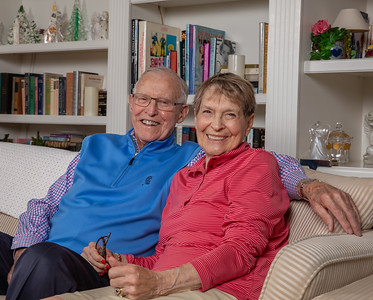 Bob & Rosemarie Blazier pose for a photo during their interview with the Northwest Herald Friday, August 24, 2018 in Crystal Lake. They are well-known – and loved – for what they've done during the 50-plus years they've lived in the community. KKoontz – For Shaw Media