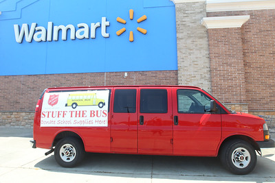 Candace H. Johnson-For Shaw Media Donated school supplies were collected during the Salvation Army's Stuff the Bus at Walmart in Gurnee. (8/3/19)