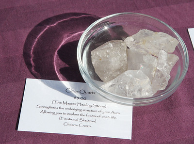 Candace H. Johnson-For Shaw Media Clear quartz from Temperance Crystals of Johnsburg were for sale at the Fox Lake Farmers Market on School Court in Fox Lake. The market runs on Tuesday nights from 4 -8:00 pm. through September. (8/20/19)