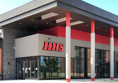 Huntley High School is photographed on Thursday, Aug. 6, 2020 in Huntley.