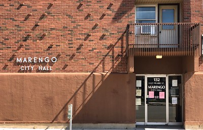 Marengo city hall is photographed on Thursday, Aug. 6, 2020 in Marengo.