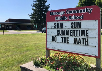 Marengo Community Middle School, CSD 165 is photographed on Thursday, Aug. 6, 2020 in Marengo.