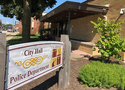 Marengo city hall and police department is photographed on Thursday, Aug. 6, 2020 in Marengo.