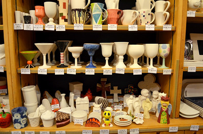Monica Maschak - mmaschak@shawmedia.com Customers can paint ready-made ceramics at the Color Me Mine studio in downtown Crystal Lake.  Popular items to paint this time of year are ornaments, Christmas trees, mugs, plates and more.
