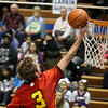 Jeff Krage -- For the Kane County Chronicle<br /> Batavia's Jake Pollack lays one in the basket for two points during Saturday's game at Larkin.<br /> Elgin 12/8/12