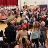 "Jeff Krage -- For the Kane County Chronicle<br /> Bethany Lutheran Sunday School students perform ""Shepherds, Sheep, and a Savior"" inside a crowded gymnasium on Sunday.<br /> Batavia 12/16/12"
