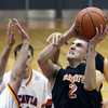 Jeff Krage -- For the Kane County Chronicle<br /> St. Charles East's Dom Adduci takes a shot during Saturday's game at Batavia High School.<br /> Batavia 12/15/12