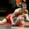 Batavia's Jon Wagner (top) competes against Brad Kearby of St. Charles East in the 160-pound weight class during their dual meet at East Thursday night.