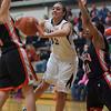 Emma Bradford of Kaneland passes the ball during the Kaneland vs. DeKalb girls basketball game at Kaneland High School Tuesday, Dec. 18.