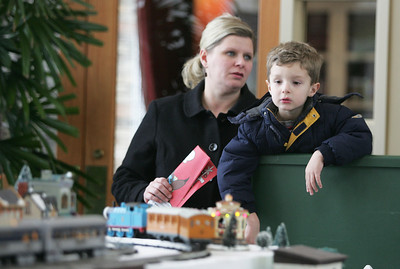 Monica Maschak - mmaschak@shawmedia.com Three-year-old Jack Byrdy watches a model Thomas train whiz by on a holiday display layout made by the Kishwaukee Valley and Eakin Creek Model Railroad Club at the Sun City Prairie Lodge in Huntley on Sunday, December 23, 2012. The model railroad display will be open to the public through December 28.