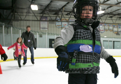 Monica Maschak - mmaschak@shawmedia.com Brady Keeshan, 5, skates during a public skate session at the Crystal Ice House on the day after Christmas. The ice rink hosts hockey leagues, lessons for skating and hockey and public skate sessions. Keeshan has been ice skating for three months.