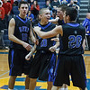 St. Francis celebrate their victory over Aurora Central at Aurora Central in Aurora, IL on Saturday, December 22, 2012 (Sean King for The Kane County Chronicle)