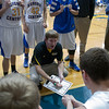 Aurora Central's head coach Nathan Drye talks to his team during a time out against St. Francis at Aurora Central in Aurora, IL on Saturday, December 22, 2012 (Sean King for The Kane County Chronicle)