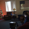 Fire fighter Kellie Walsh spends Christmas day working at the Sugar Grove Fire Department. The staff is allowed more down time on holidays between calls and assignments. They would usually be given tasks between 9 a.m. and 5 p.m.