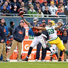 Chicago  Bears running back Matt Forte fails to complete a pass in the first half of their 21-13 loss to the Green Bay Packers at Soldier Field Sunday.