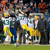 Sam Shields of the Green Bay Packers (37) breaks up a pass to Bears wide receiver Alshon Jeffery during the Bears' 21-13 loss to the Green Bay Packers at Soldier Field Sunday.