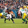 Chicago Bears running back Matt Forte runs the ball in the first half of their 21-13 loss to the Green Bay Packers at Soldier Field Sunday.