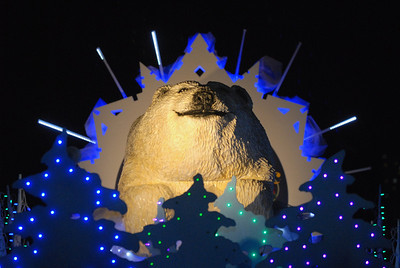 A life-like Polar Bear structure is surrounded by holiday lights during the Holiday Magic event at Brookfield Zoo on Saturday, Dec. 8, 2012. Staff photo by Matthew Piechalak