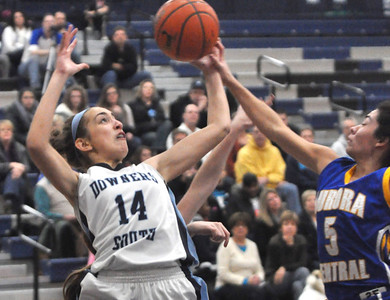 Claire Hardy of Downers Grove South grabs a rebound during their game against Aurora Central Catholic Thursday Dec. 27 at the Oswego East Holiday Classic Girls Basketball Tournament. Mark Busch — mbusch@shawmedia.com