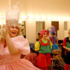 Katelyn Jassoy, 15, of St. Charles (as Glinda the Good Witch) goofs around in the dressing room with other cast members during a rehearal for a production of The Wizard of Oz at the Batavia Fine Arts Centre. 2/7/2012(Sandy Bressner photo)