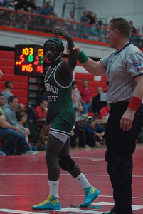 Glenbard West's Paul Selman after he defeated West Aurora's Jason Clayton in a 138-lb. match during the 47th Annual Rex Whitlatch Wrestling Invitational at Hinsdale Central High School on Saturday, Dec. 14, 2012. Matthew Piechalak — mpiechalak@shawmedia.com
