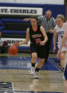 Sierra Bisso dribbles the ball up the court for Wheaton Warrenville South. Sarah Minor — sminor@shawmedia.com