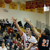Batavia's Zach Strittmatter throws up a one-handed shot during Saturday's game against visiting St. Charles East. (Jeff Krage photo for the Kane County Chronicle)