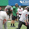 Northern Illinois quarterback Matt Williams participates in a drill during practice at Huskie Stadium in DeKalb, Ill., Saturday, Dec. 8, 2012. (Rob Winner photo)