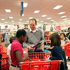 Chicago Bears kicker Robbie Gould talks with Mooseheart students as they shop for gifts at Target in St. Charles. Over 80 Mosseheart students were each given $100 to spend courtesy of the Goulden Touch charity.(Sandy Bressner photo)