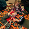 William Whiston, 17 months, plays on his iPad with his sister, Juliet, 3, in their Geneva home. William was born with myotubular myopothy, a rare genetic disorder that does not allow him to move his muscles with any force.(Sandy Bressner photo)