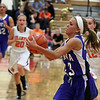 Geneva's Bella Medina heads toward the basket and scores two points on a fast break during Thursday's game at St. Charles East.<br /> (Jeff Krage photo for the Kane County Chronicle)